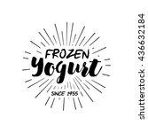 ice cream shop design labels.... | Shutterstock .eps vector #436632184