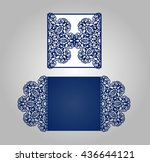 cutout paper wedding... | Shutterstock .eps vector #436644121