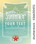 entry poster beach  | Shutterstock .eps vector #436650451