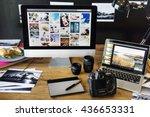 Camera Photography Design Studio Editing Concept - stock photo