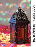 ramadan background   lantern on ... | Shutterstock . vector #436669369