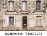 old weather beaten house facade.   Shutterstock . vector #436672375