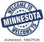 welcome to minnesota. stamp | Shutterstock .eps vector #436679134