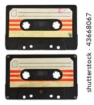 audio cassette isolated on...