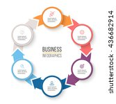 circular arrows for... | Shutterstock .eps vector #436682914
