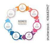 circular arrows for... | Shutterstock .eps vector #436682947