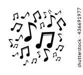 music notes. silhouette vector...   Shutterstock .eps vector #436691977