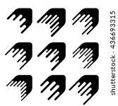 arrow decoration motion line...   Shutterstock .eps vector #436693315