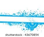 musical theme grunge halftone... | Shutterstock .eps vector #43670854