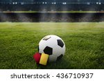 yellow card and red card.... | Shutterstock . vector #436710937