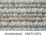 Small photo of doormat background pattern design, alternating color brown and gray mixed doormat in front of toilet, clean a feet for restroom, modern home decoration