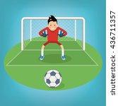 cute goalkeeper  vector... | Shutterstock .eps vector #436711357