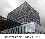 grey office buildings | Shutterstock . vector #436711741