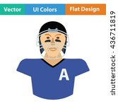 american football player icon.... | Shutterstock .eps vector #436711819