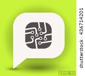 pictograph of circuit board | Shutterstock .eps vector #436714201