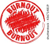 """the word """"burnout"""" with fire... 