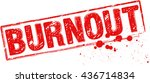 "the word ""burnout"" stamped with ... 