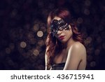 beautiful redhead woman with... | Shutterstock . vector #436715941