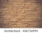 Close Up Brown Stone Wall...