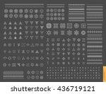 sacred geometry. set of minimal ... | Shutterstock .eps vector #436719121