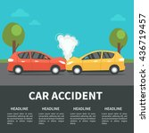 car accident concept... | Shutterstock .eps vector #436719457