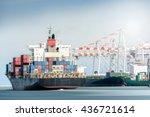 international transportation... | Shutterstock . vector #436721614
