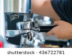 barista making coffee... | Shutterstock . vector #436722781