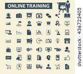 online training icons   Shutterstock .eps vector #436723405
