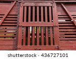 wooden livestock railroad box...   Shutterstock . vector #436727101