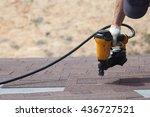 Roofer Builder Worker With...