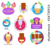 set of different badges and... | Shutterstock .eps vector #436730914