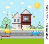 house vector | Shutterstock .eps vector #436734859