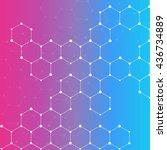 molecules  vector | Shutterstock .eps vector #436734889