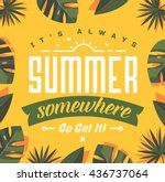 summer holidays background.... | Shutterstock .eps vector #436737064