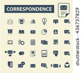 correspondence icons | Shutterstock .eps vector #436737829