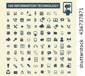 information technology icons | Shutterstock .eps vector #436737871