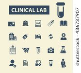 clinical lab icons | Shutterstock .eps vector #436737907