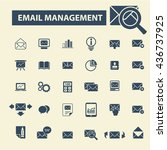 email management icons | Shutterstock .eps vector #436737925
