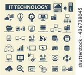 it technology icons | Shutterstock .eps vector #436738045