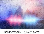 police crime scene  rain... | Shutterstock . vector #436745695