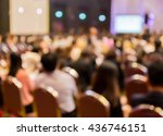 blur  row  of  audience ... | Shutterstock . vector #436746151