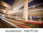 megacity highway at night with... | Shutterstock . vector #43674718