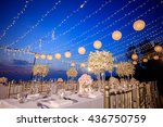 table setting for wedding or... | Shutterstock . vector #436750759
