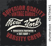 new york typography  t shirt...   Shutterstock .eps vector #436754641