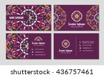 visiting card and business card ... | Shutterstock .eps vector #436757461