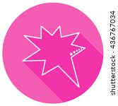 speech bubbles in pink round... | Shutterstock .eps vector #436767034