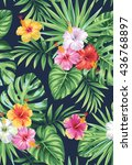 tropical seamless pattern with...   Shutterstock .eps vector #436768897