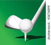 golf | Shutterstock .eps vector #43676899