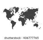 world map countries colorful.... | Shutterstock .eps vector #436777765