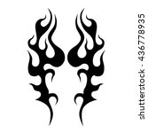 flame tattoo tribal sketch.... | Shutterstock .eps vector #436778935